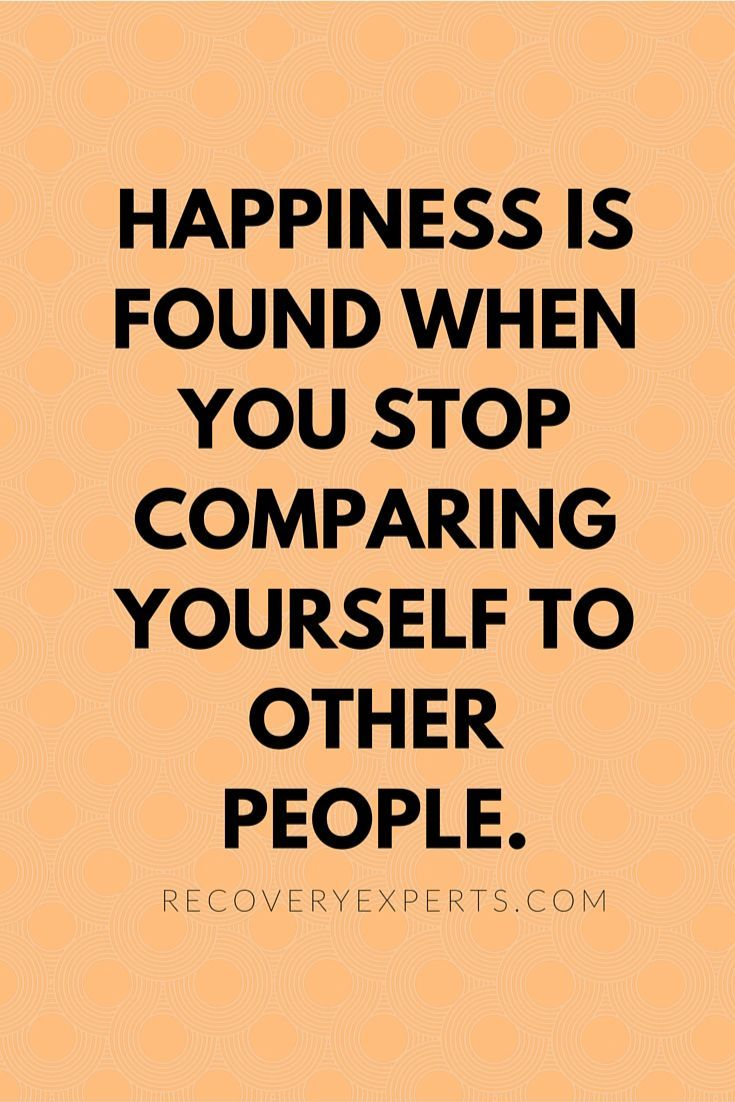 HAPPINESS AND COMPARING YOURSELF TO OTHERS Words, Quotes