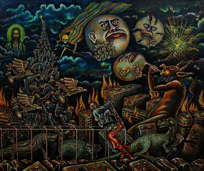 The begining - 2 from Vitally Kukresh #darkart #demons #painting