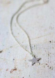 Silver Star Necklace from www.bodieandfou.com