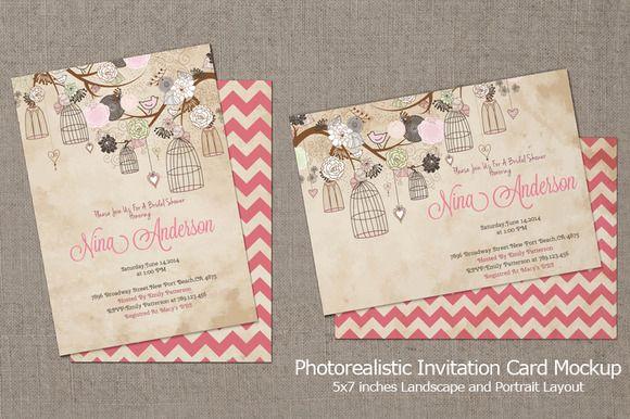 Invitation card mockup v3 mockup and design packaging invitation card mockup v3 stopboris Choice Image