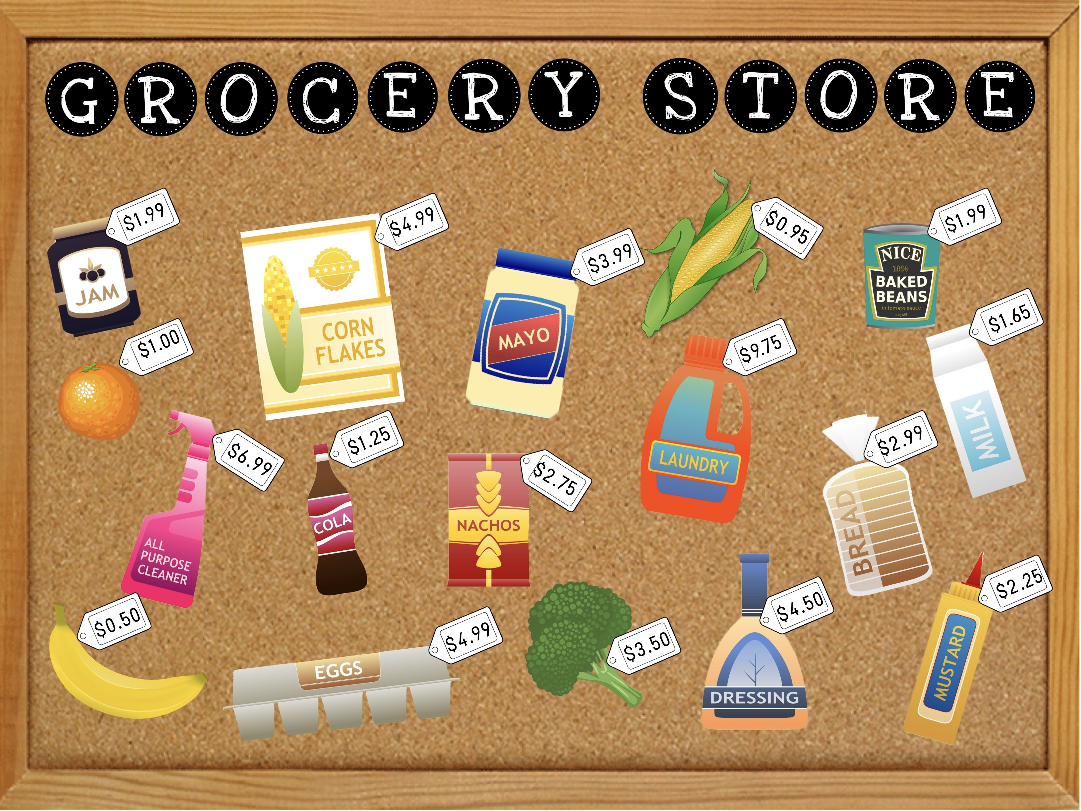Grocery Store Interactive Bulletin Board