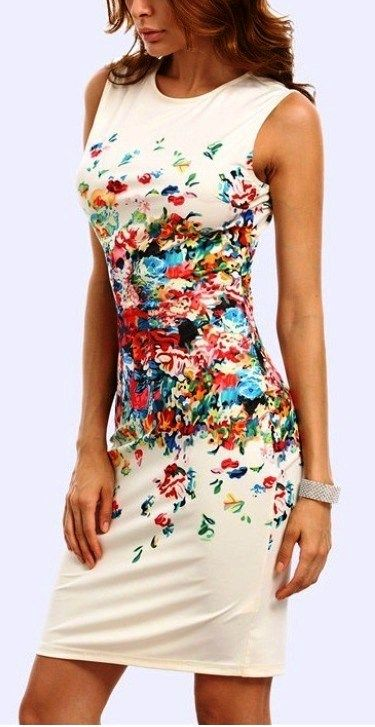 #floral #printed 55+ Beautiful Floral Print Dresses Ideas