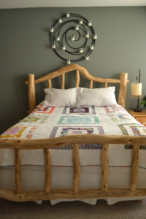 Modern Queen Size Reversible Bed Quilt, fresh & colorful, designer fabric, ready to ship: FREE SHIPPING