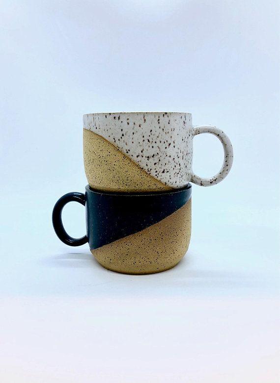 Half Dip Cappuccino Ceramic Mug #ceramicmugs