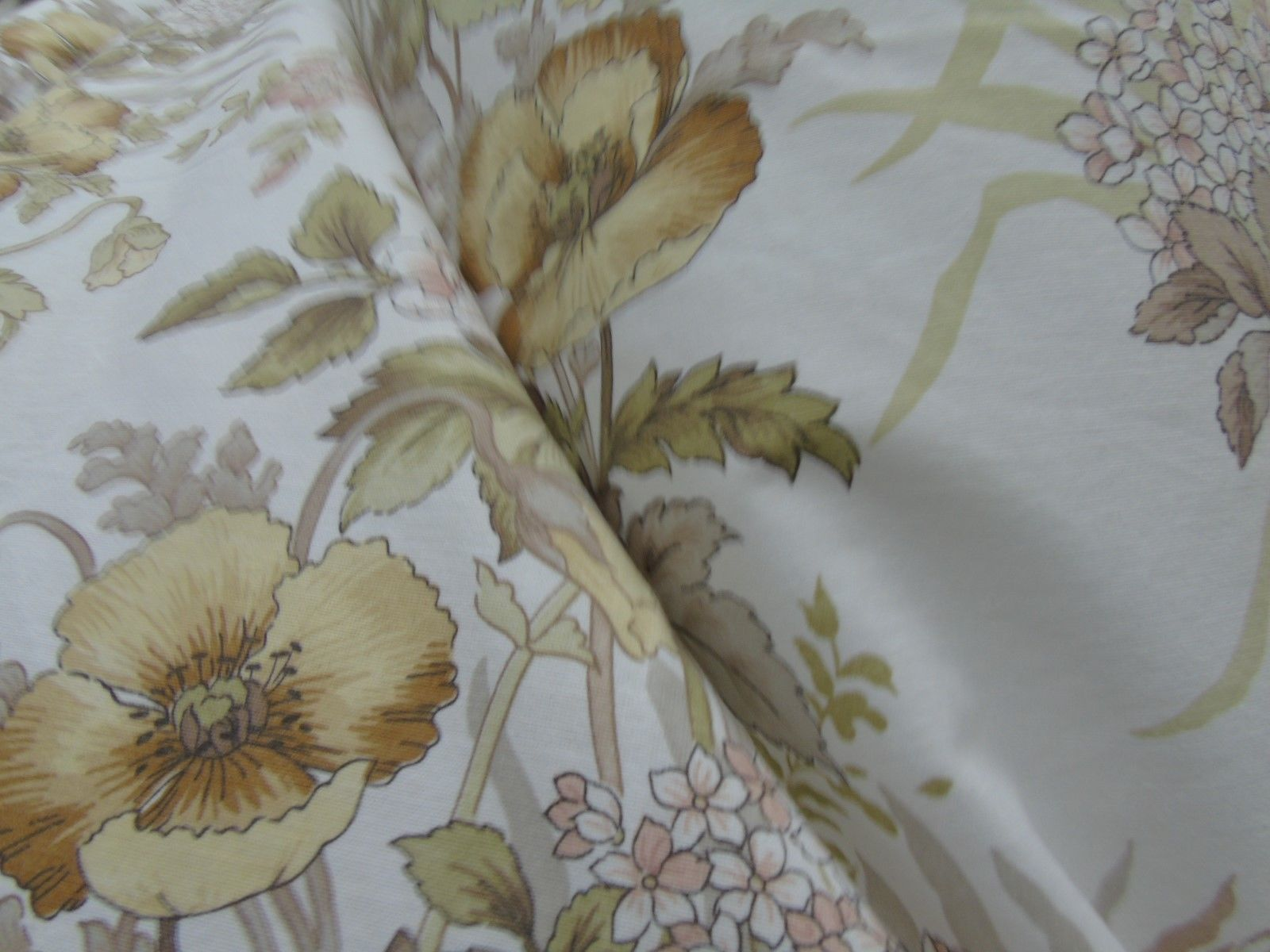 Peachy Vintage Retro Floral Pair Of Curtains Fabric Made In Uk Download Free Architecture Designs Jebrpmadebymaigaardcom