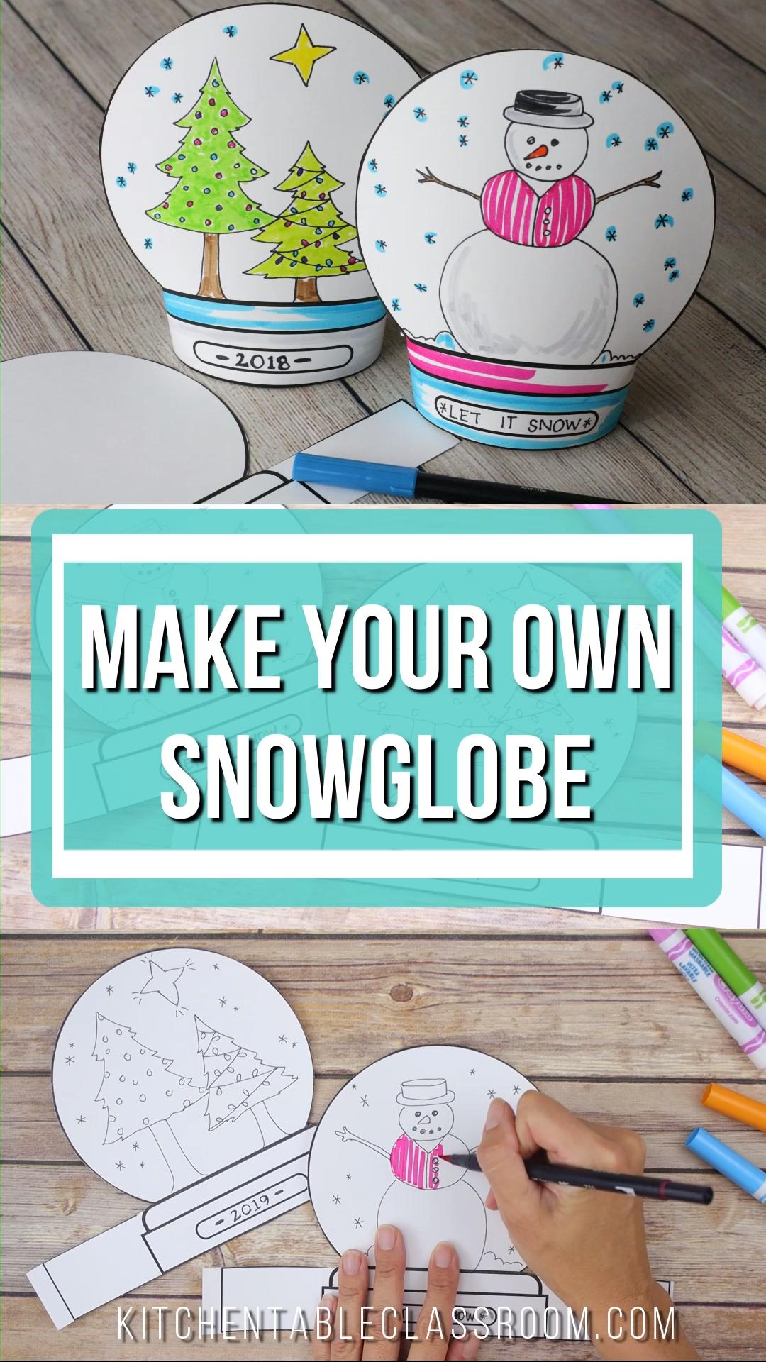 Free Snow Globe Template - Use this free printable ...