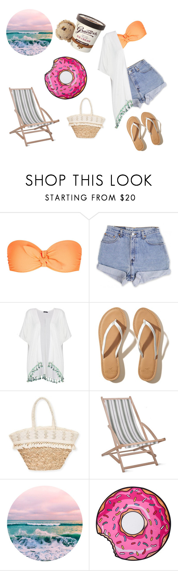 """""""Untitled #43"""" by fotinaki06 ❤ liked on Polyvore featuring Heidi Klein, Levi's, Boohoo, Hollister Co., Sun N' Sand and Garden Trading"""