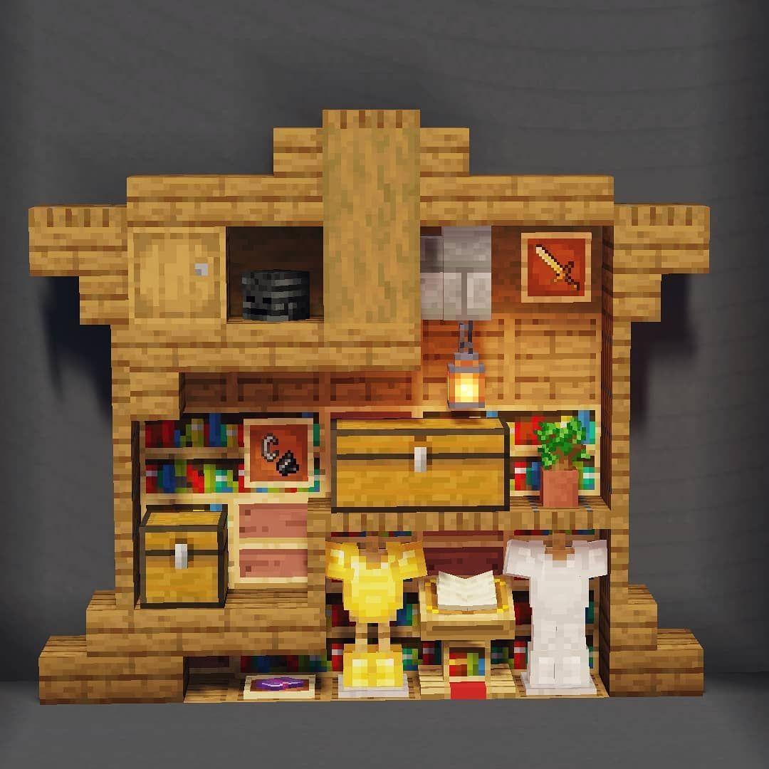 "SpiderBoy // Minecraft Builder on Instagram: ""Small armory ..."