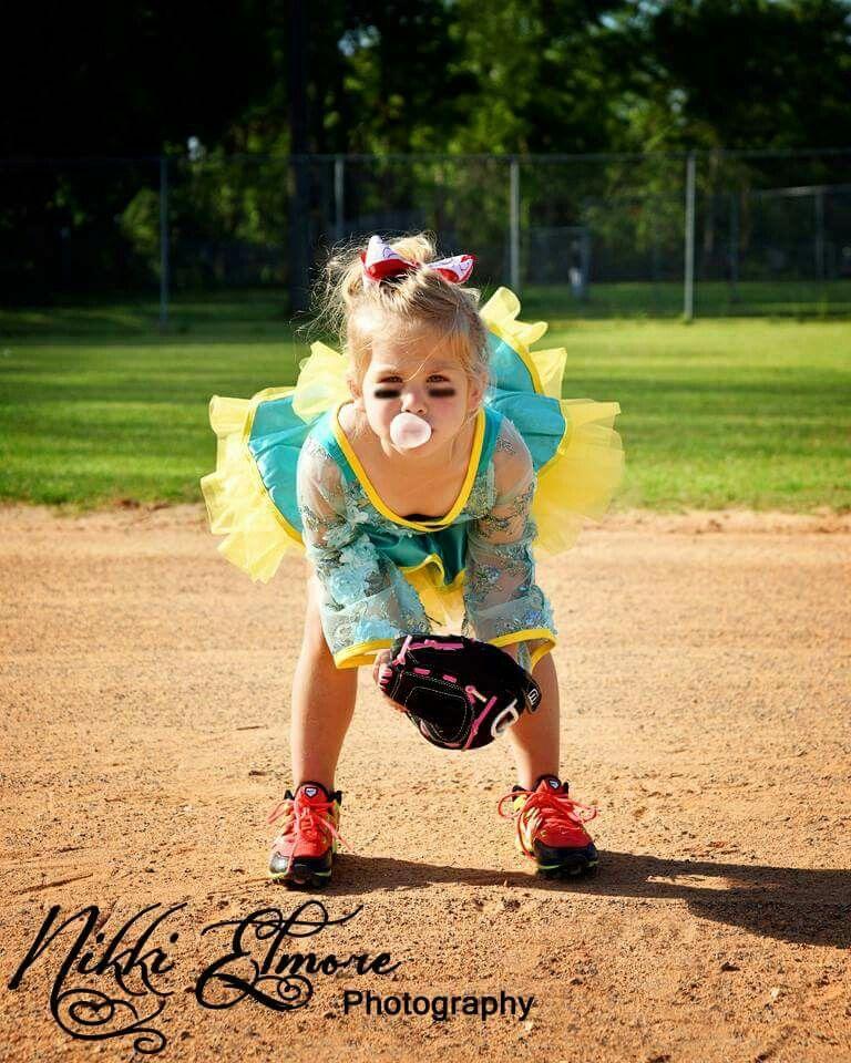 Girl Picture Ideas: Kids Softball Dance Photo Idea Little Girl Softball Idea