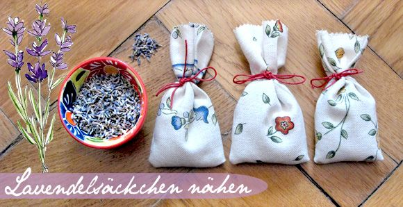 Lavendelsäckchen Aus Stoff Selber Nähen Anleitung Nähen