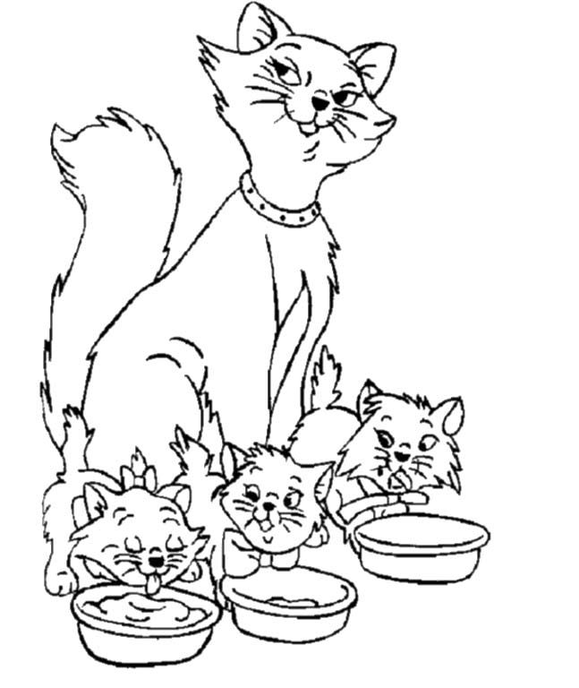 I Have Download Cat And Cat Mom A Very Dear Family Coloring For Kids Mom Coloring Pages Cat Coloring Page Family Coloring Pages