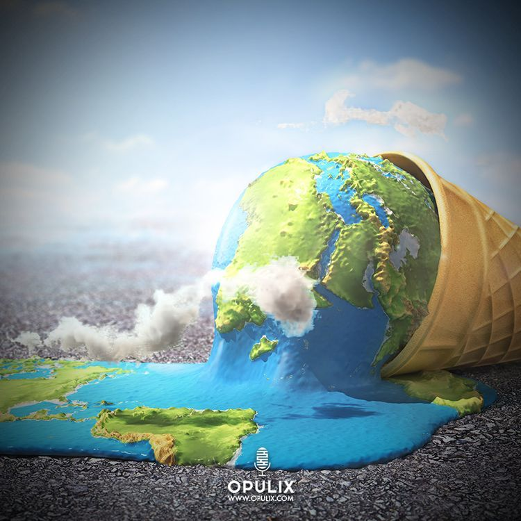 El Fatídico Cambio Climático Opulix El Fatídico Cambio Climático Opulix Cambio Cambioclimatico Global Warming Art Earth Poster Climate Change Art