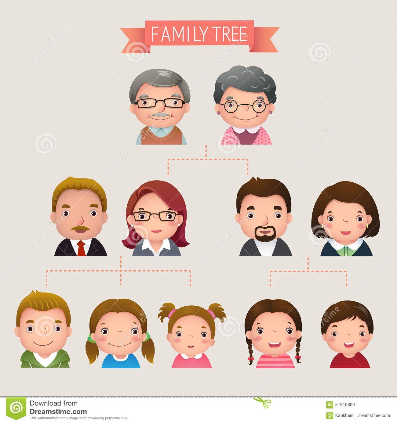 Family Tree Stock Vector