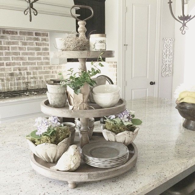 Rustic 3-tiered tray - can decorate for the seasons.