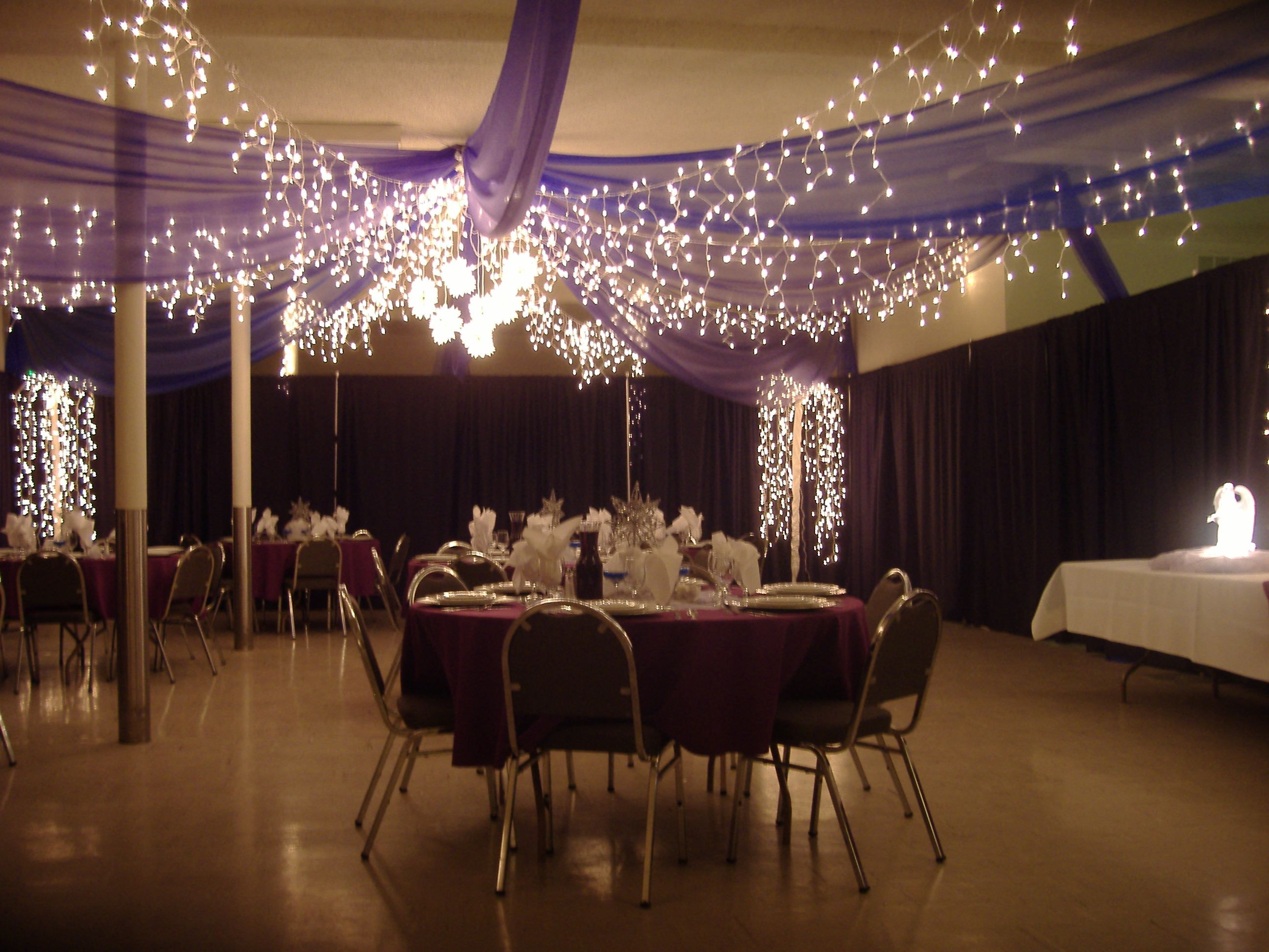 tulle crystal icicle lights wedding ceiling canopy kit | wedding
