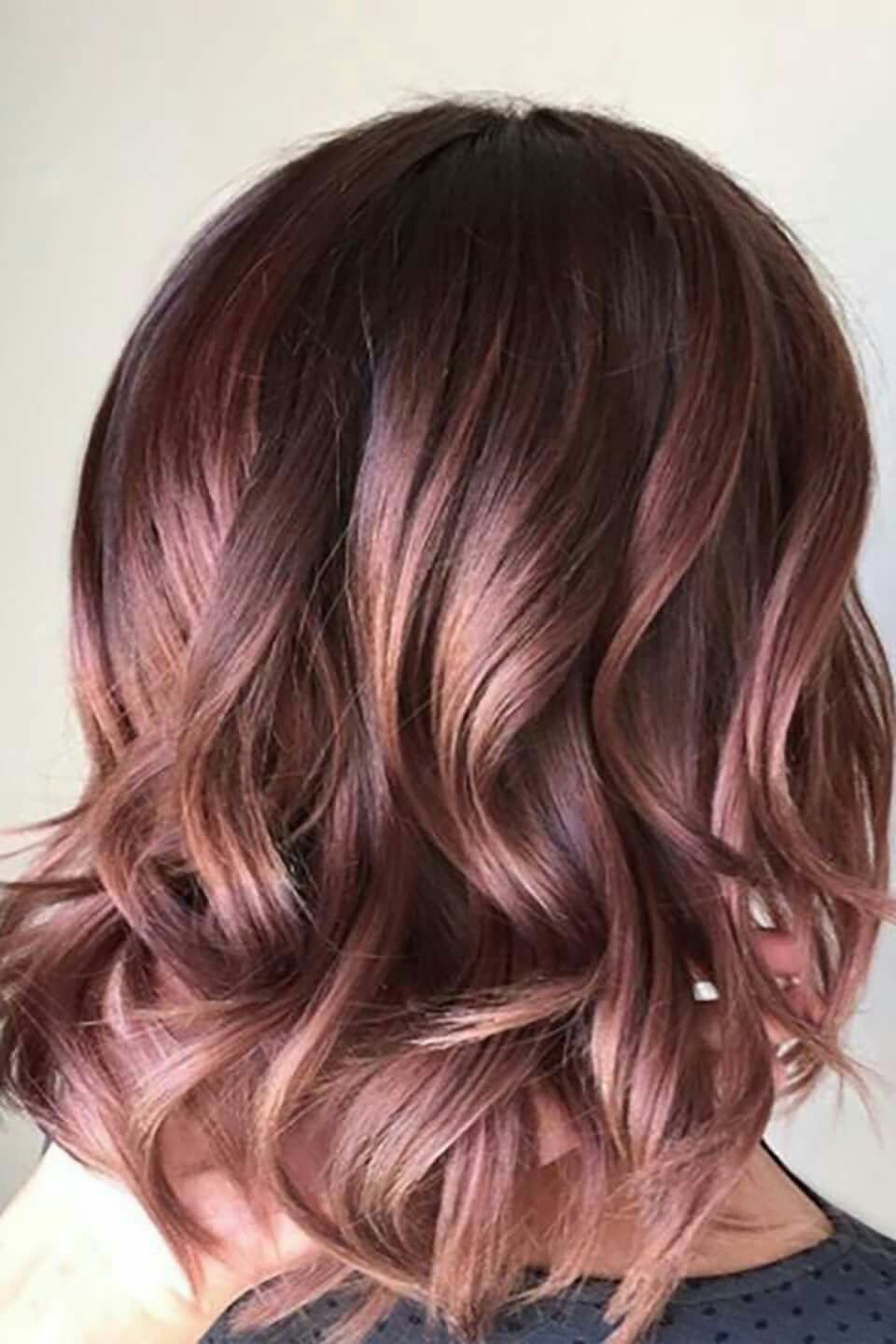 Love Love Love This Color It S Dark And Beautiful Would It Be Called Mauve Dark Pink Gorgeous Hair Color Hair Styles Rose Hair Color