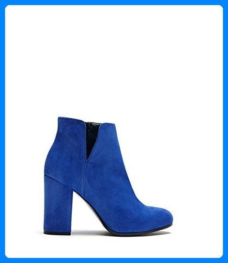 Poilei Maya Damen Schuhe Sommer Stiefelette Ankle Boot Mit Blockabsatz Blau Stiefel Fur Frauen Partner Link Boots Summer Boots Ankle Ankle Boot