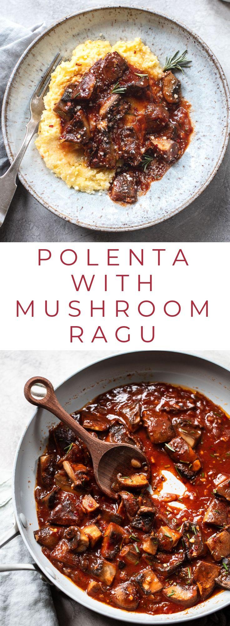 Easy Mushroom Ragu with Parmesan Polenta images