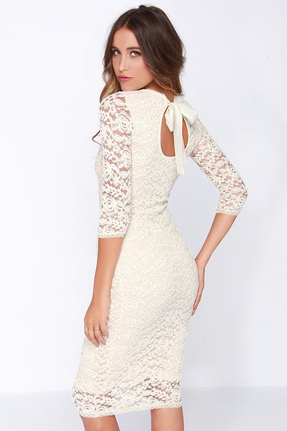 cream lace dress | Beautiful ✨ | Pinterest | Trendy tops, Second ...