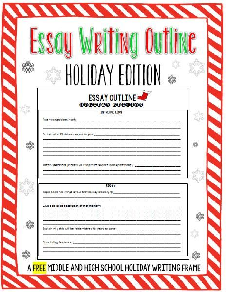 Looking For An Activity For Your Students To Complete During The Last Few Days Before Christmas Break Look Fo Essay Outline Christmas Essay Essay Writing Tips