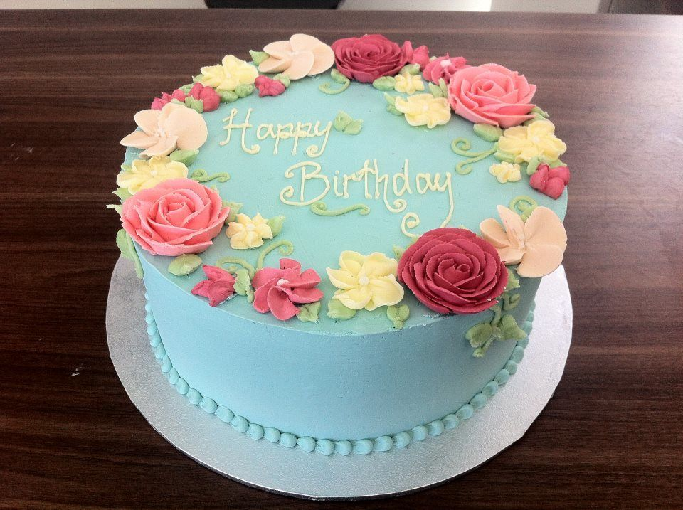 Wilton Buttercream Cake Decorating Ideas : Smooth Buttercream Cake Class Cooking: Cake Creations ...