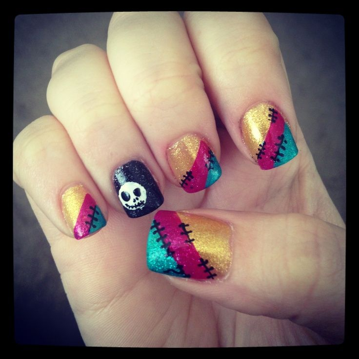 nightmare before christmas nails | Nightmare Before Christmas Nails ...