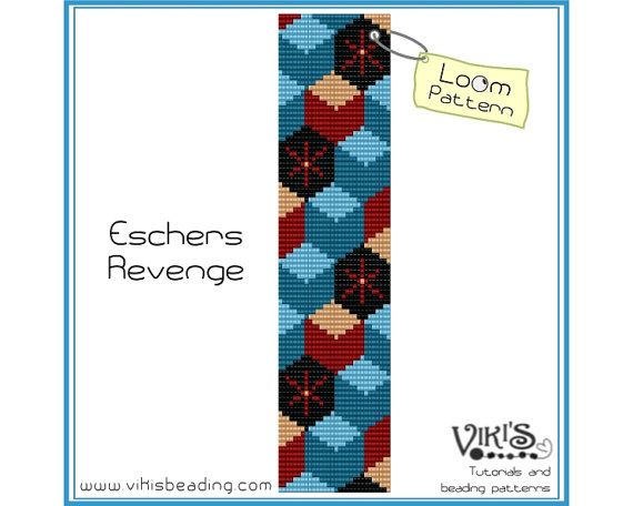 Loom Beading Pattern: Escher's Revenge - INSTANT DOWNLOAD pdf - Buy 2 Get 1 free with coupon codes -  bl233