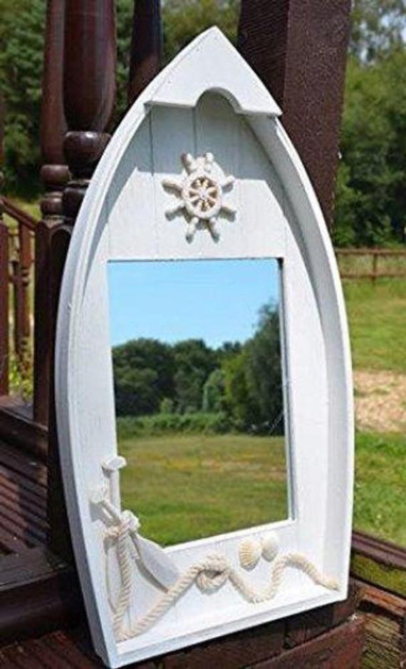 Photo of Prime Decor Large Dinghy Mirror | Captain's Maritime Beach Home Decor