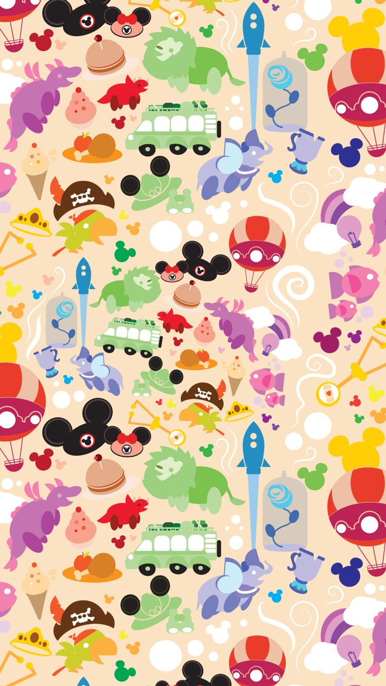 Disney Colorful wallpaper Disney phone wallpaper, Disney