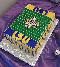 LSU Birthday Cake