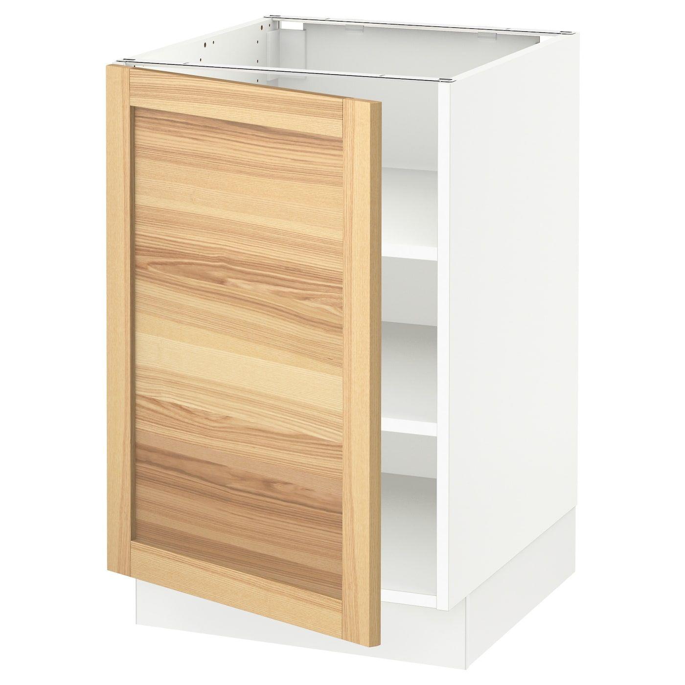 Ikea Sektion White Base Cabinet With Shelves Frame Colour White
