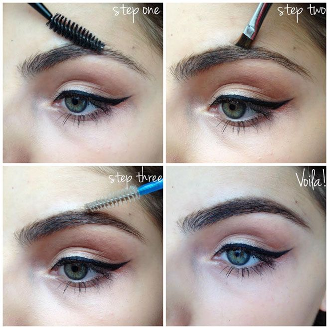 how to set your eyebrows