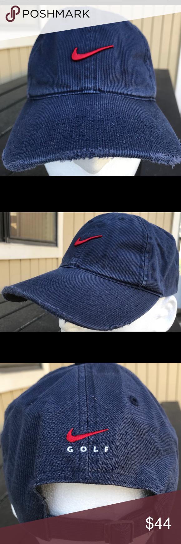 Nike Golf Hat Vintage Corduroy Navy Blue Strapback Hats Vintage Nike Golf Hat Golf Hats