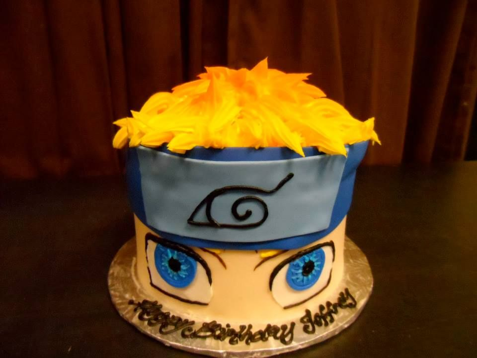 Tremendous Naruto Anime Birthday Cake Gala Bakery San Lorenzo Ca Personalised Birthday Cards Sponlily Jamesorg