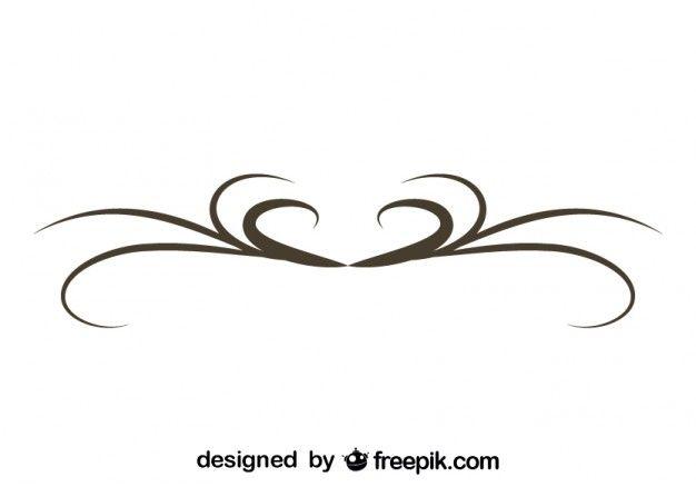 Simple Swirl Graphic Element Retro Design Vintage Pinterest