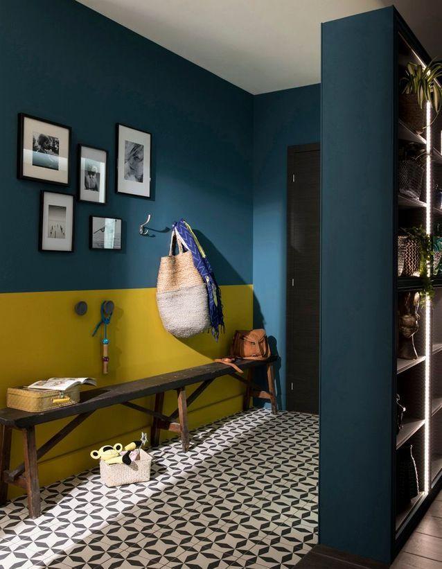 De Quelle Couleur Repeindre Votre Mur Nos 30 Inspirations Elle Decoration Decoration Maison Deco Maison Interieur Deco Bleue