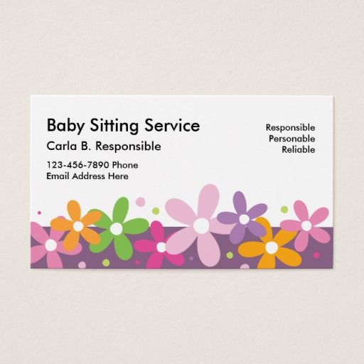 Babysitting Business Cards Zazzle Com Babysitting Avery Business Cards Childcare Center