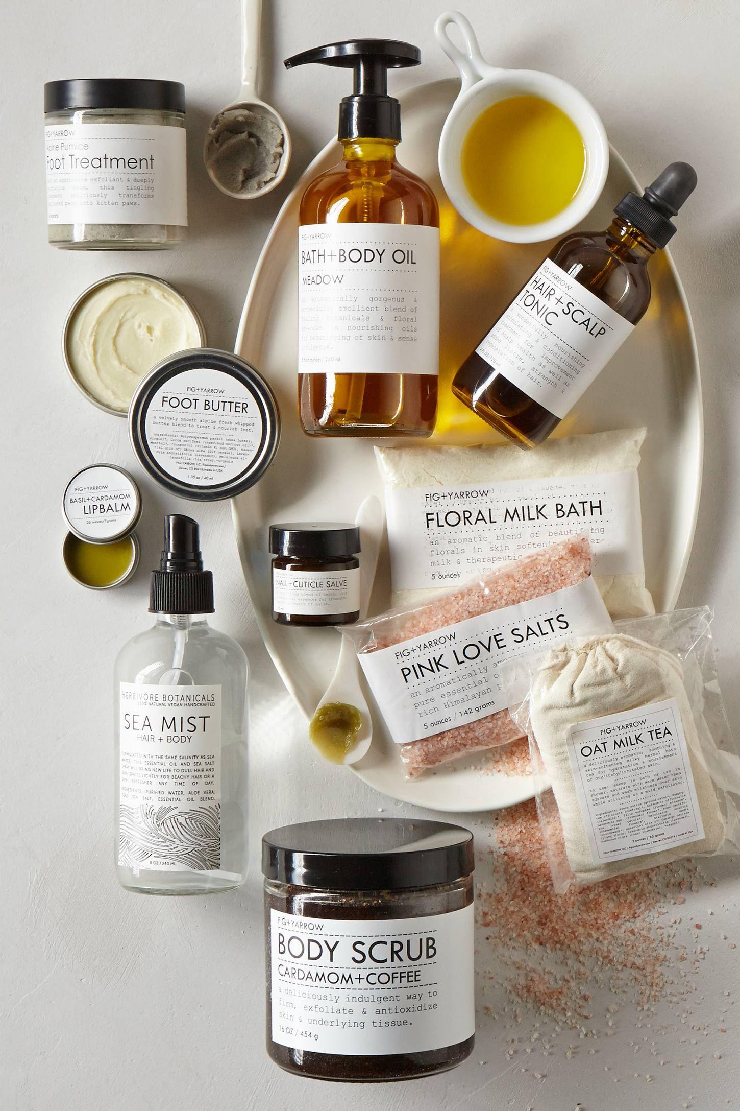 Fig + Yarrow Oat Milk Bath Tea Beauty packaging