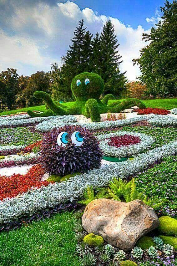 Hermoso topiary Pinterest Hermosa, Jardín y Jardines - Jardines Hermosos