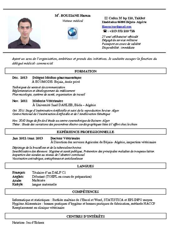 Cv Visiteur M Dical Jpg 548 775