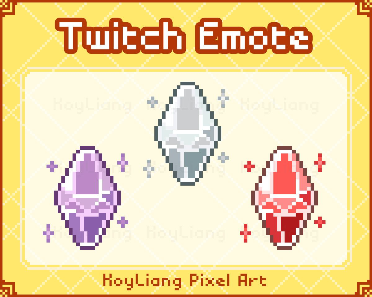 Channel points icon for twitch sparkling crystals and