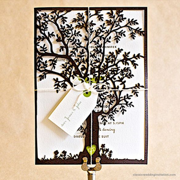 Merveilleux Our Laser Cut Forest Tree Wedding Invitations Are Beautifully Designed And  St Gertrude Inspired, Now