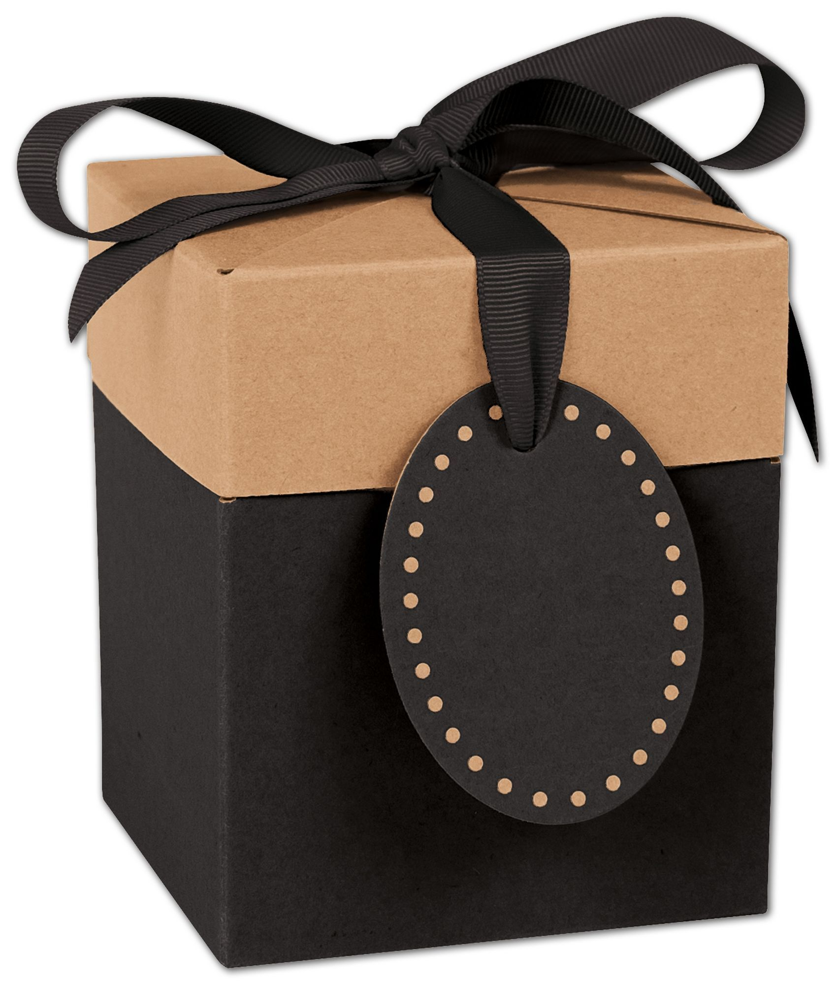 Black kraft giftalicious popup boxes 4 x 4 x 4 34