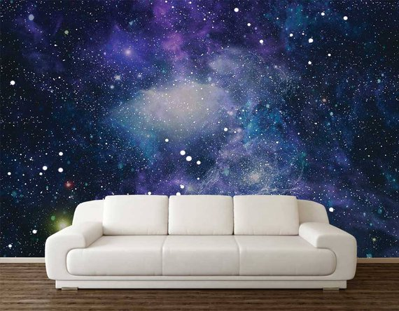 Space Wallpaper Wall Mural Stars Planets Wallpaper Wall Decal