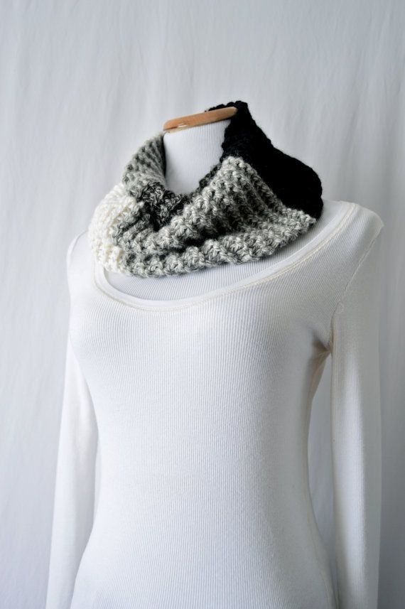 Shades of Gray Cowl / Hand Knitted / Baby by HanksAndNeedles