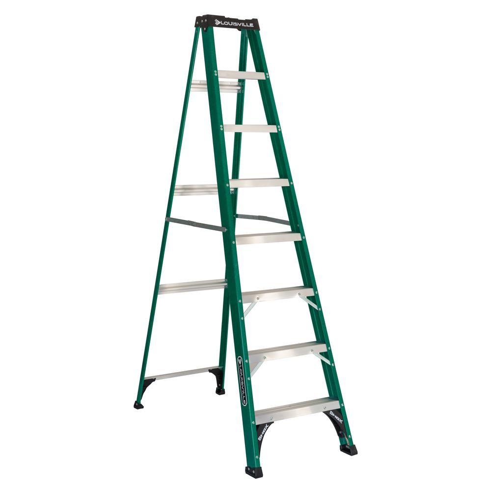 Stupendous Louisville Ladder 8 Ft Fiberglass Step Ladder With 225 Lbs Beatyapartments Chair Design Images Beatyapartmentscom