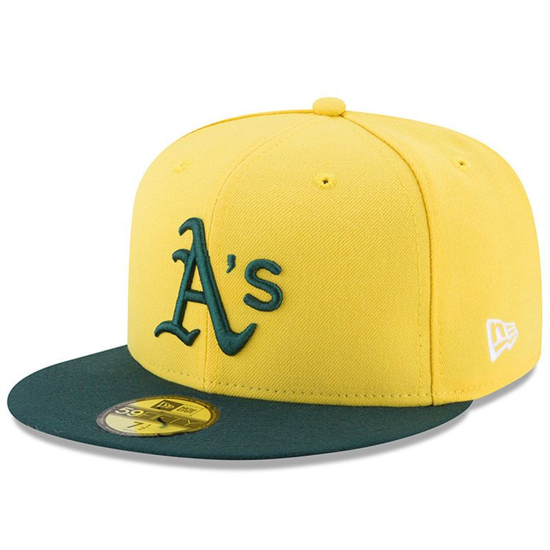 new product ccffd 19df0 Oakland Athletics New Era Youth 2017 Players Weekend 59FIFTY Fitted Hat -  Yellow