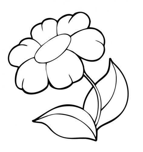 Blumen Comic Ausmalbilder 01