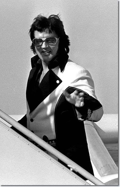 Elvis Presley in Cincinnati, March 1976.