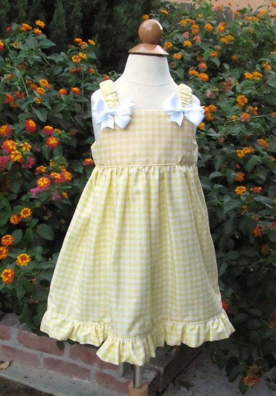 Girls Gingham Dress size 12-18 months